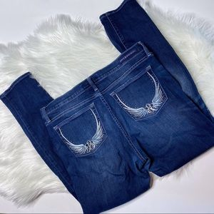 Rock and Republic Angel Wing Embellished Jeans 14